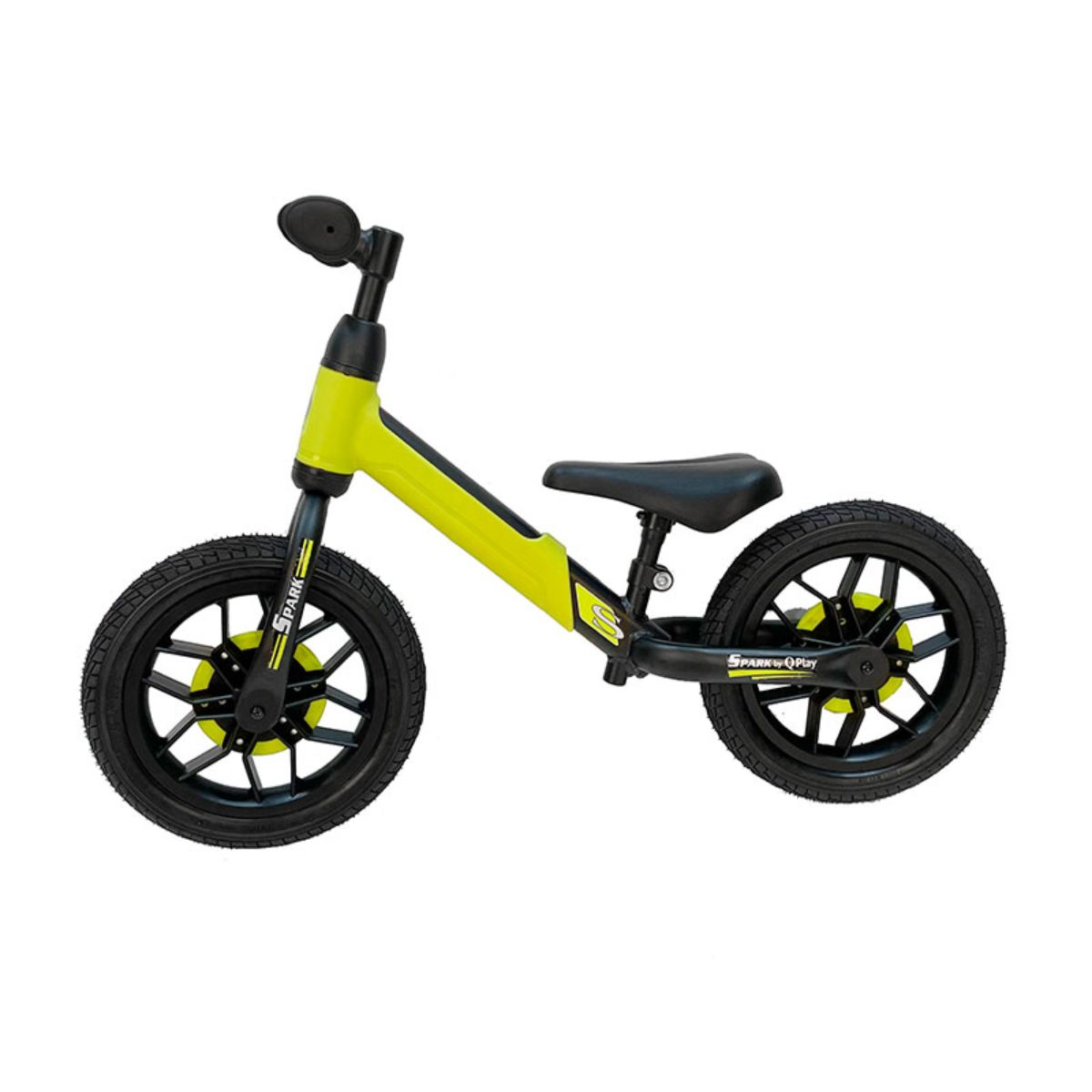 Bicicleta fara pedale DHS Baby Qplay Spark, Verde, 12 inch