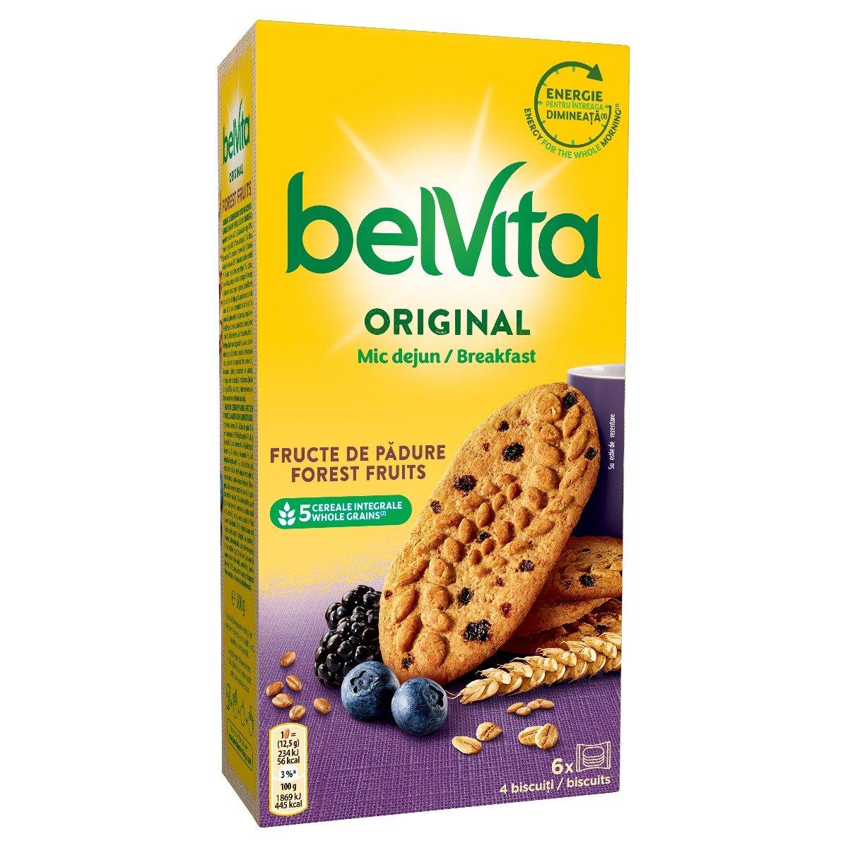 Biscuiti cu cereale si fructe de padure Belvita Breakfast, 300 g imagine