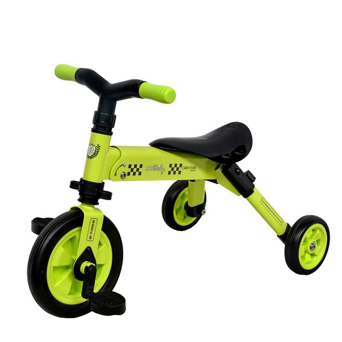 Tricicleta B-Trike DHS Baby, Verde