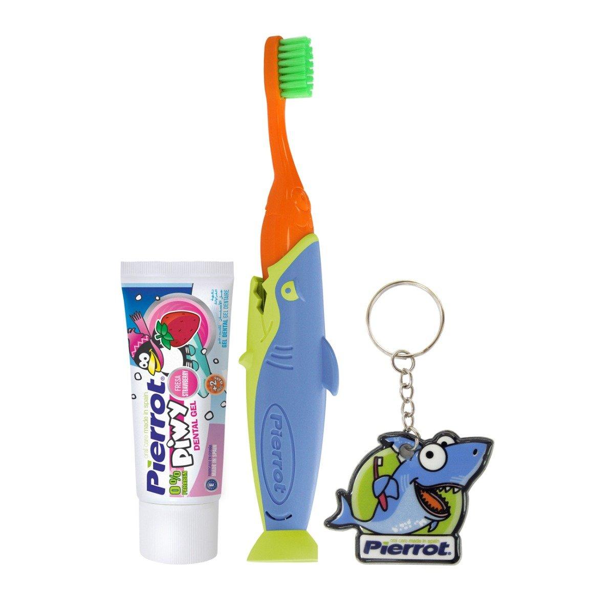 Set igiena orala pentru copii Pierrot Travel Sharky