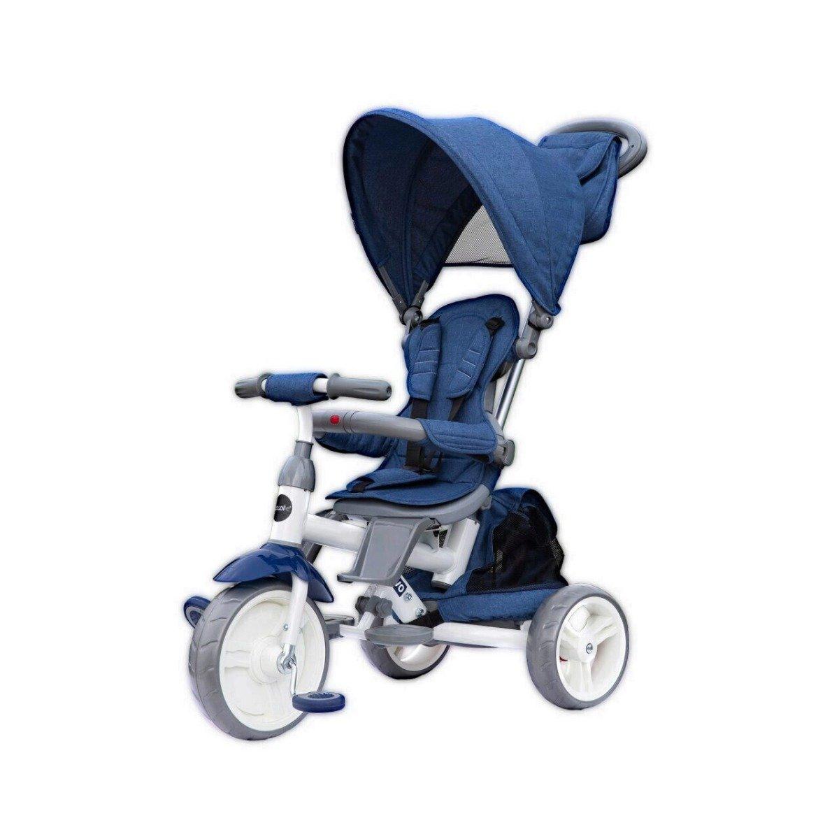 Tricicleta multifunctionala Evo Coccolle, Albastru