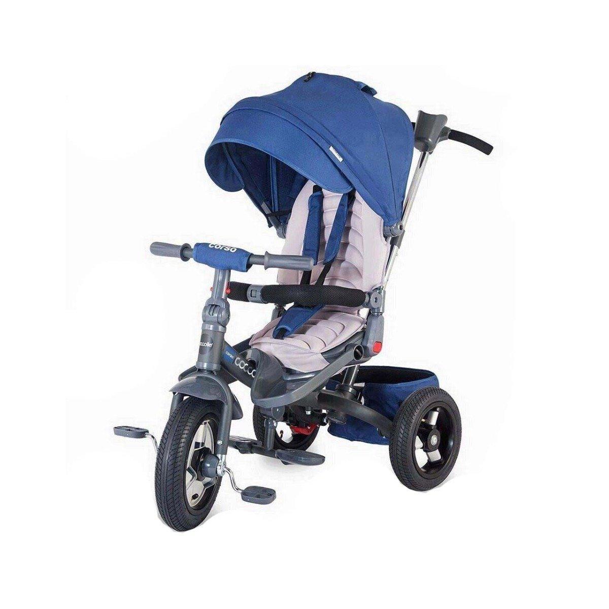 Tricicleta multifunctionala Corso Coccolle, Albastru imagine