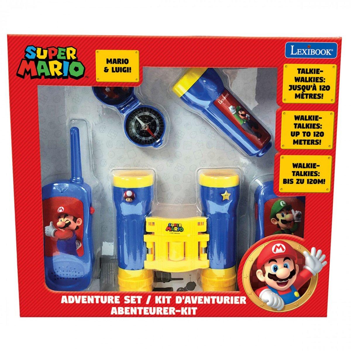 Set Walkie Talkies, Lexibook, binoclu, compas si lanterna, Super Mario