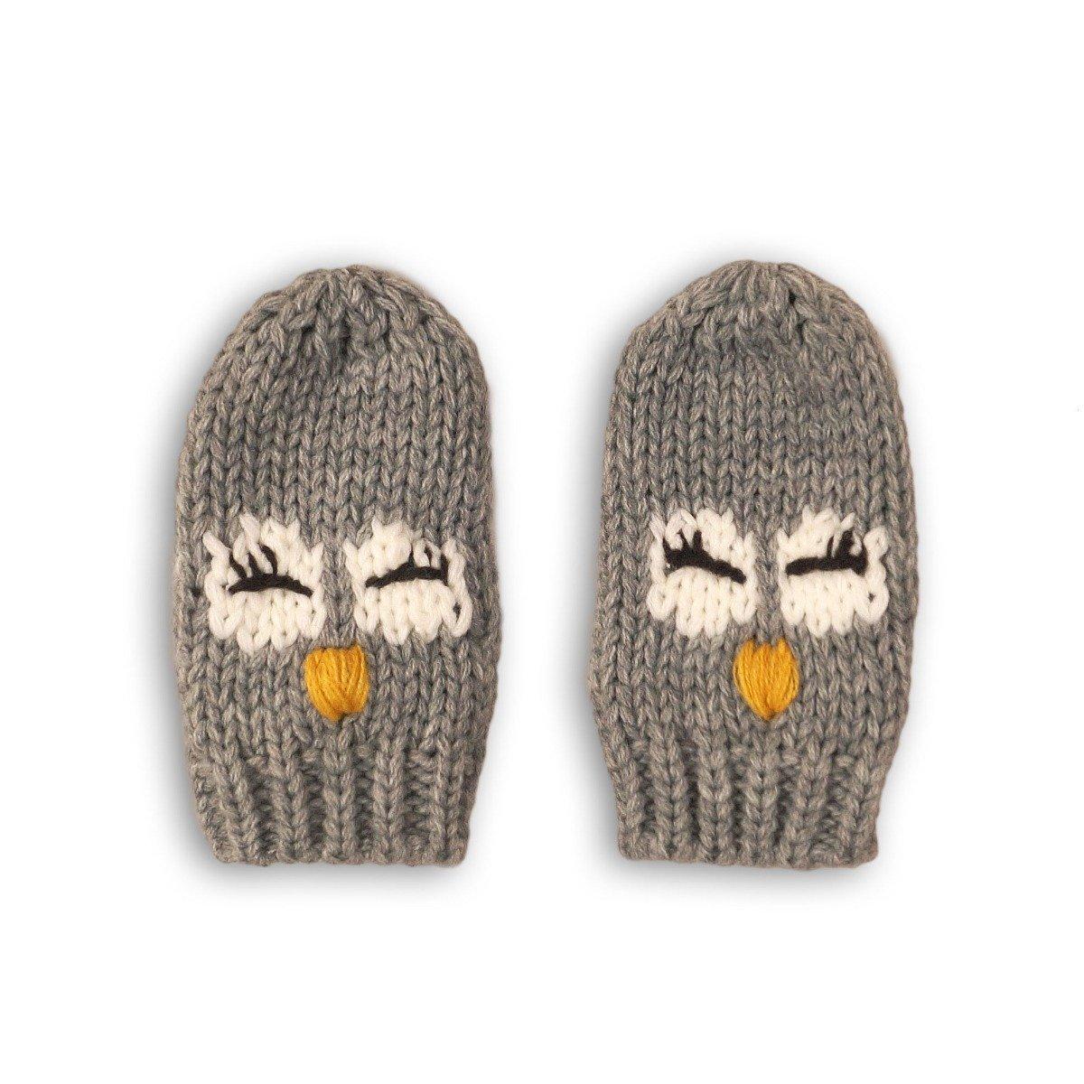 Manusi de fete cu imprimeu Minoti Owl imagine