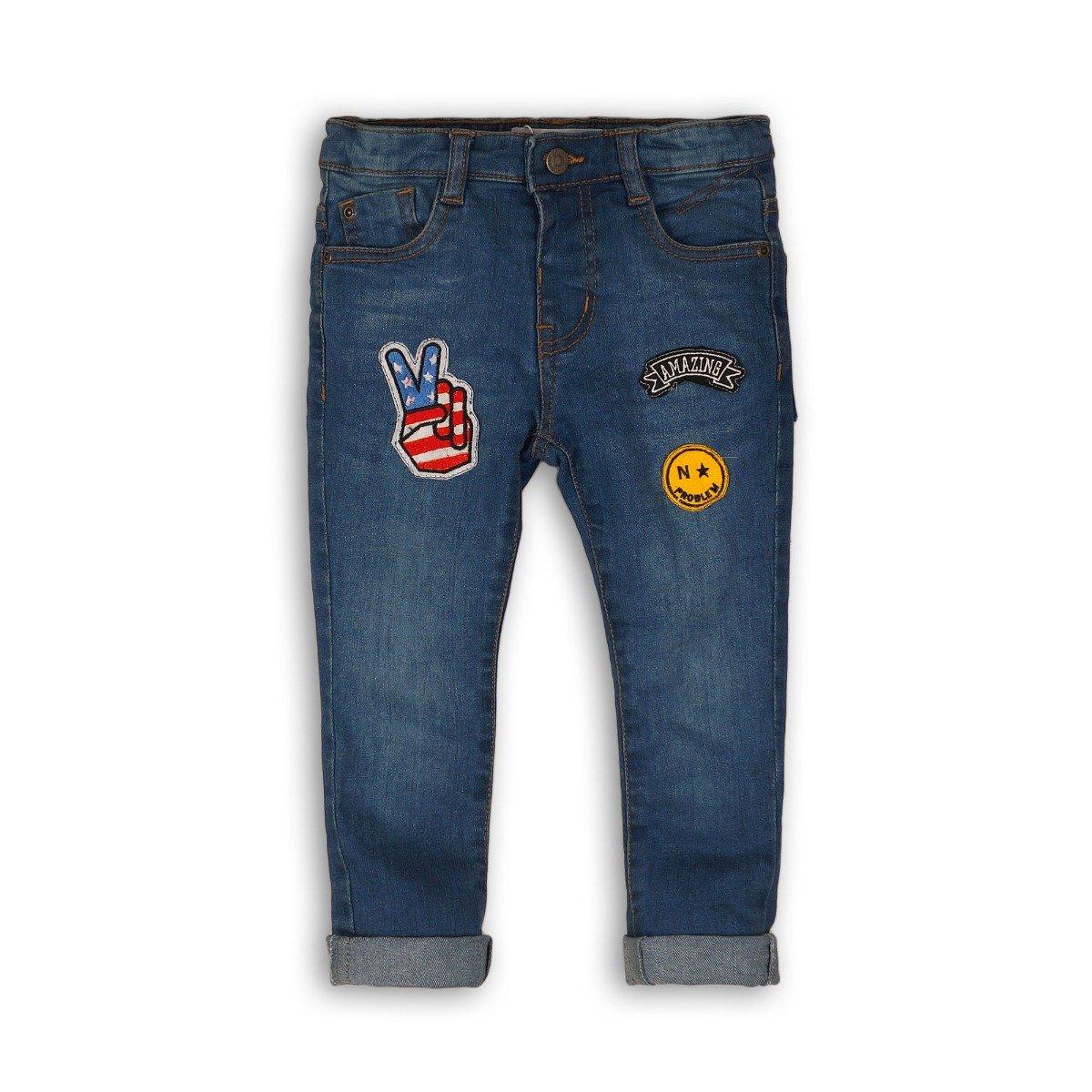 Pantaloni jeans denim Minoti Skate, Albastru