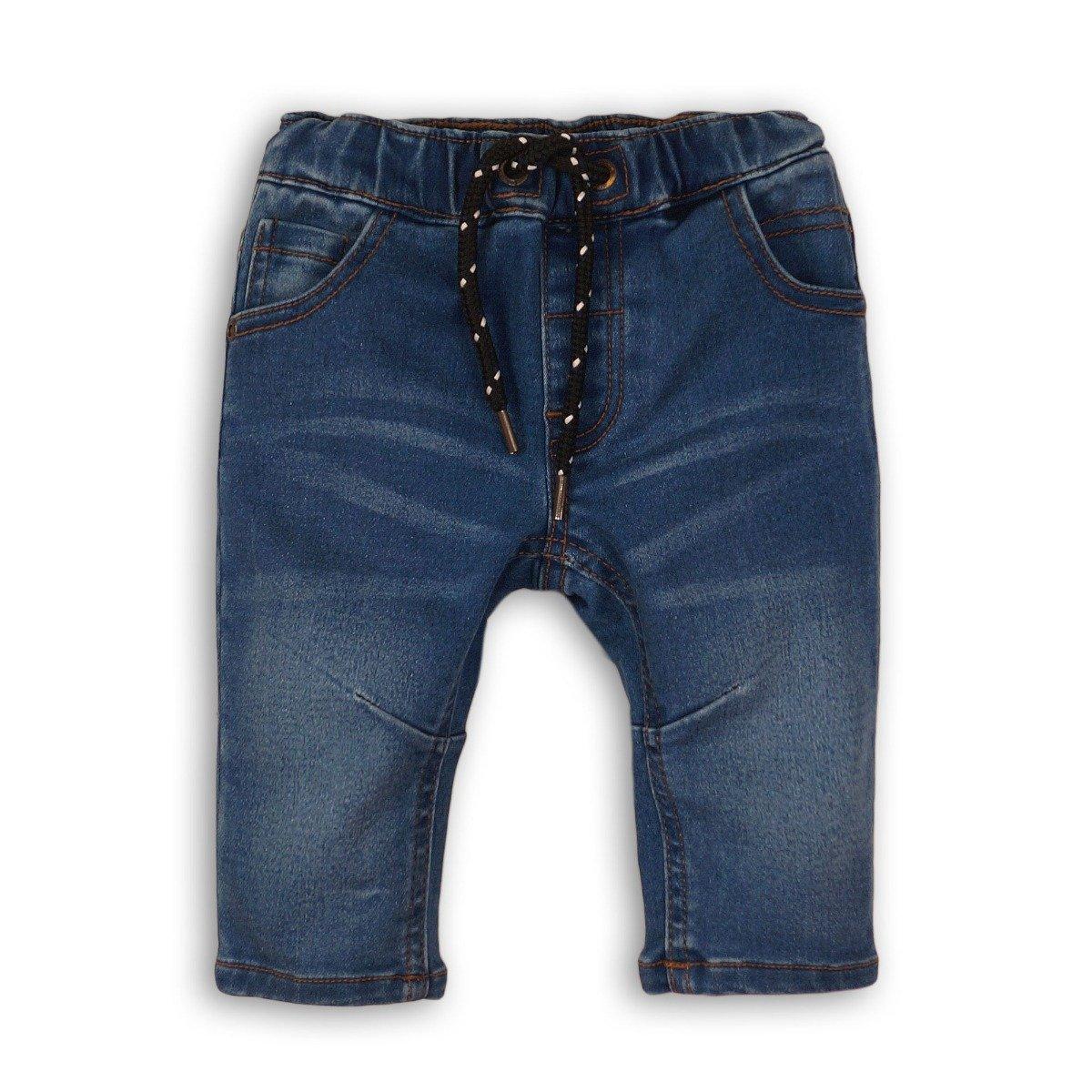 Pantaloni jeans denim cu snur Minoti Wheelie, Albastru