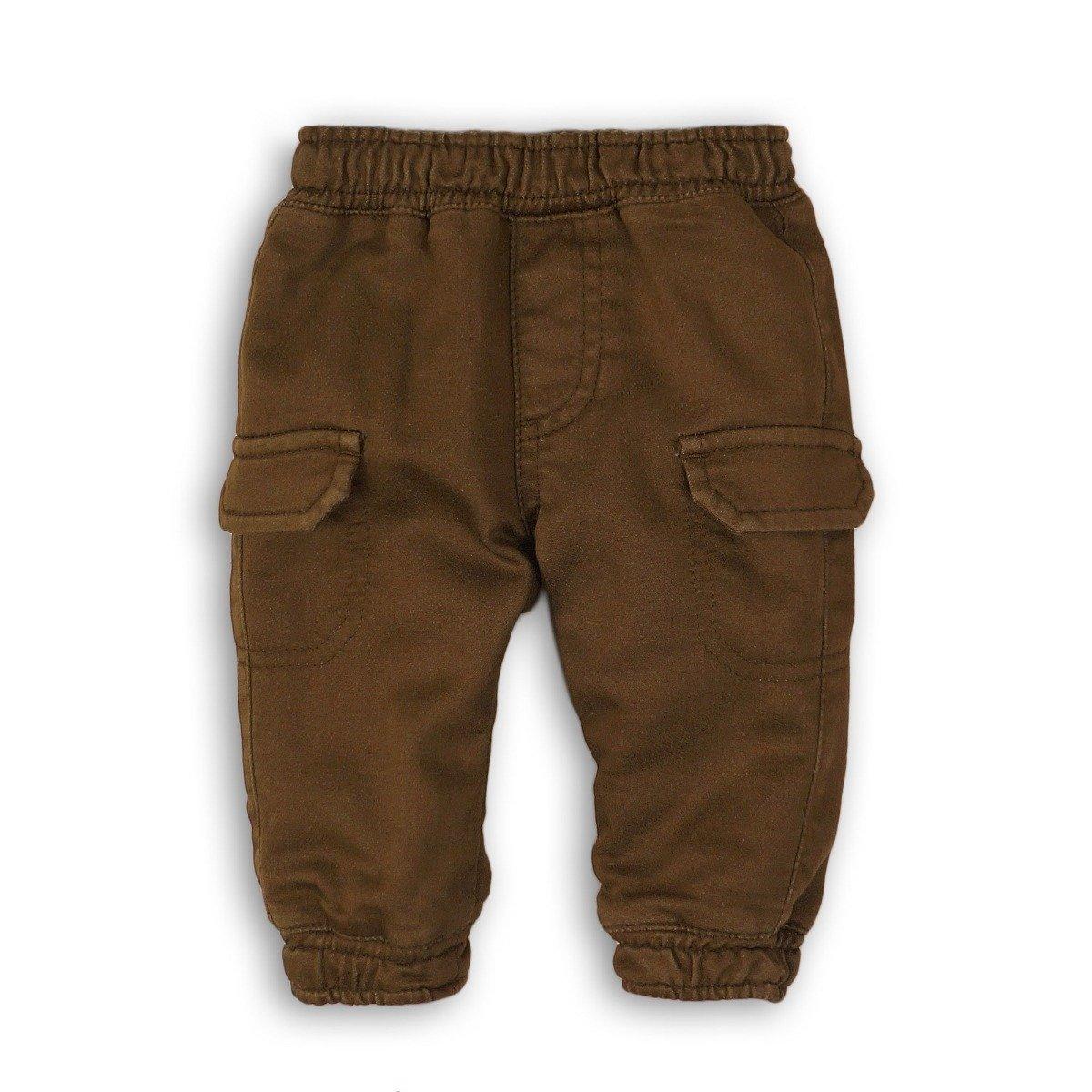 Pantaloni lungi cu buzunare Minoti Wheelie, Kaki