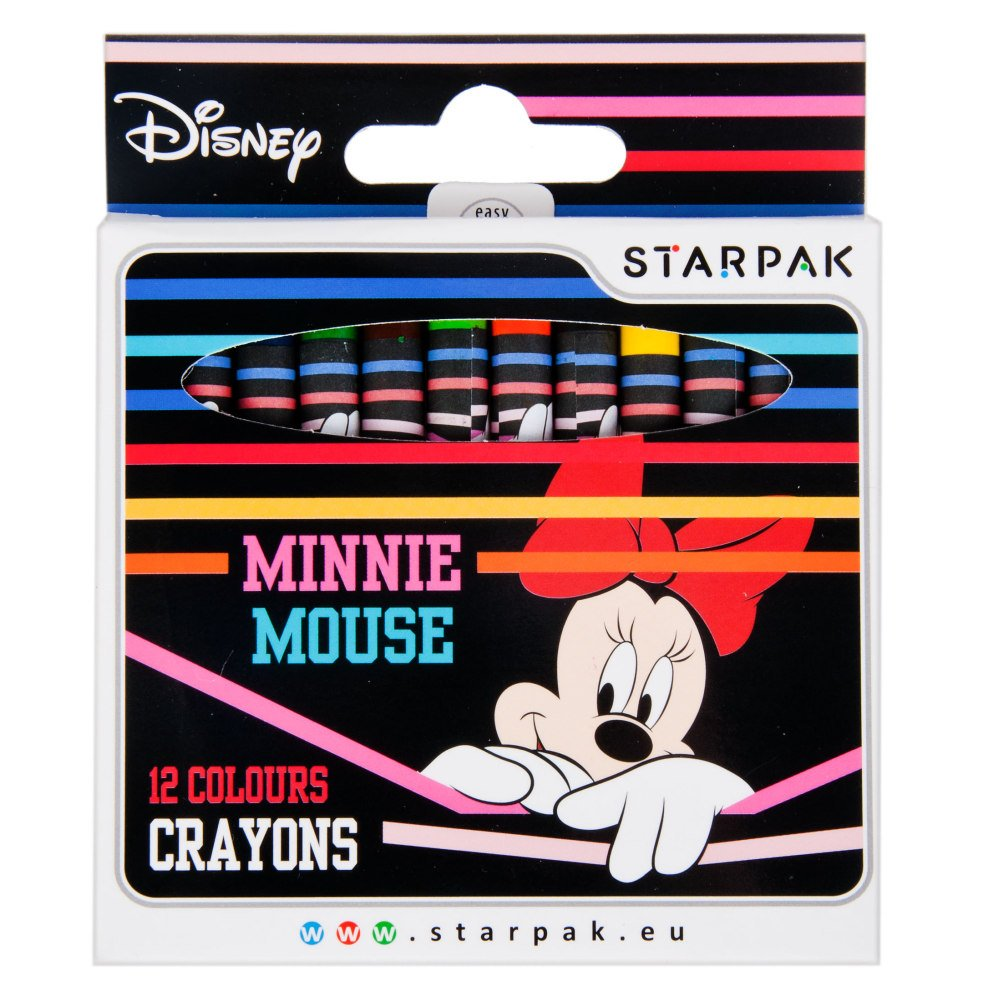 Set 12 creioane cerate Starpak, Minnie Mouse