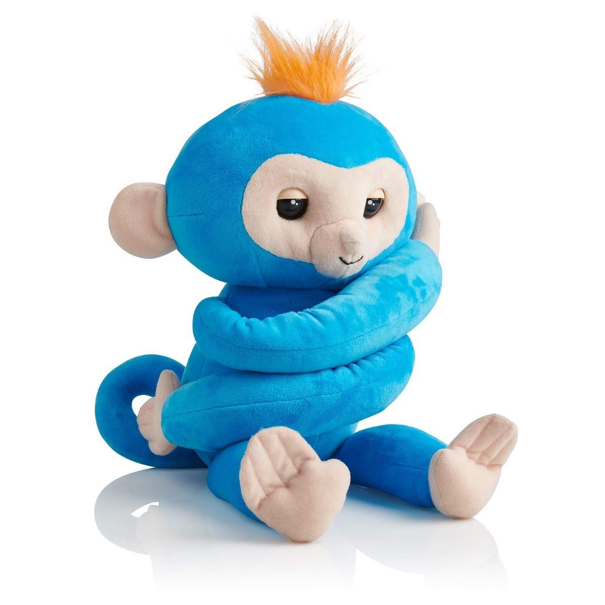 Jucarie de plus interactiva Fingerlings Hugs - Boris Monkey Turquoise