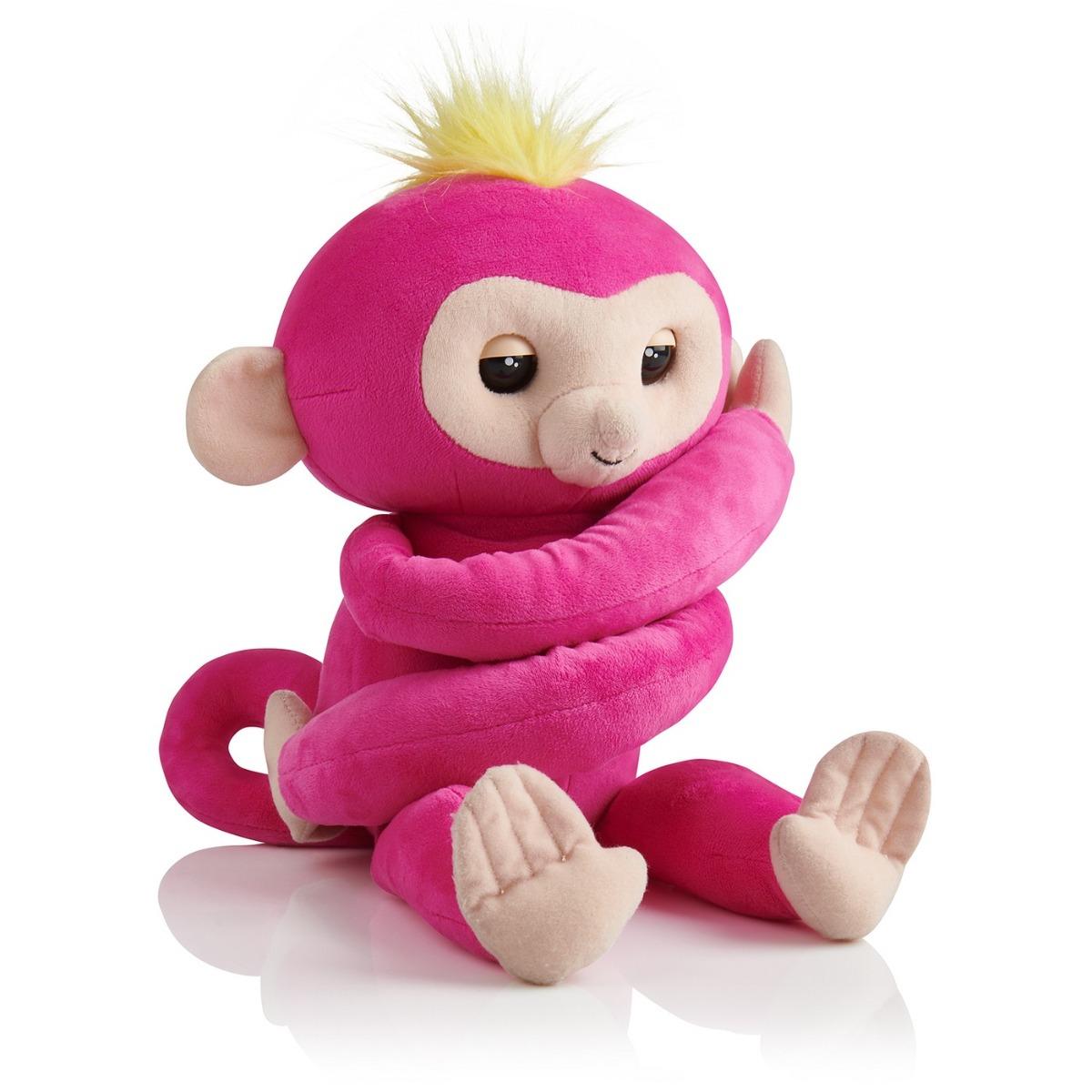 Jucarie de plus Fingerlings Hugs - Bella Monkey Pink