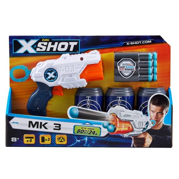 Set blaster Zuru X-Shot MK 3 cu proiectile si tinte