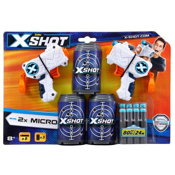 Set pistoale X-Shot Micro cu 8 Sageti si 3 Cutii