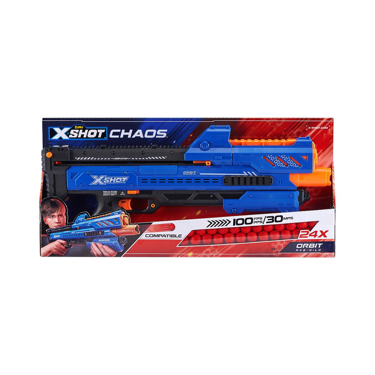 Set blaster X-Shot Chaos Orbit Dart Ball cu 24 de proiectile