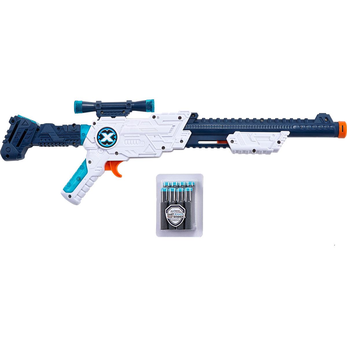 Set pusca X-Shot Hawk Eye cu luneta si 8 proiectile