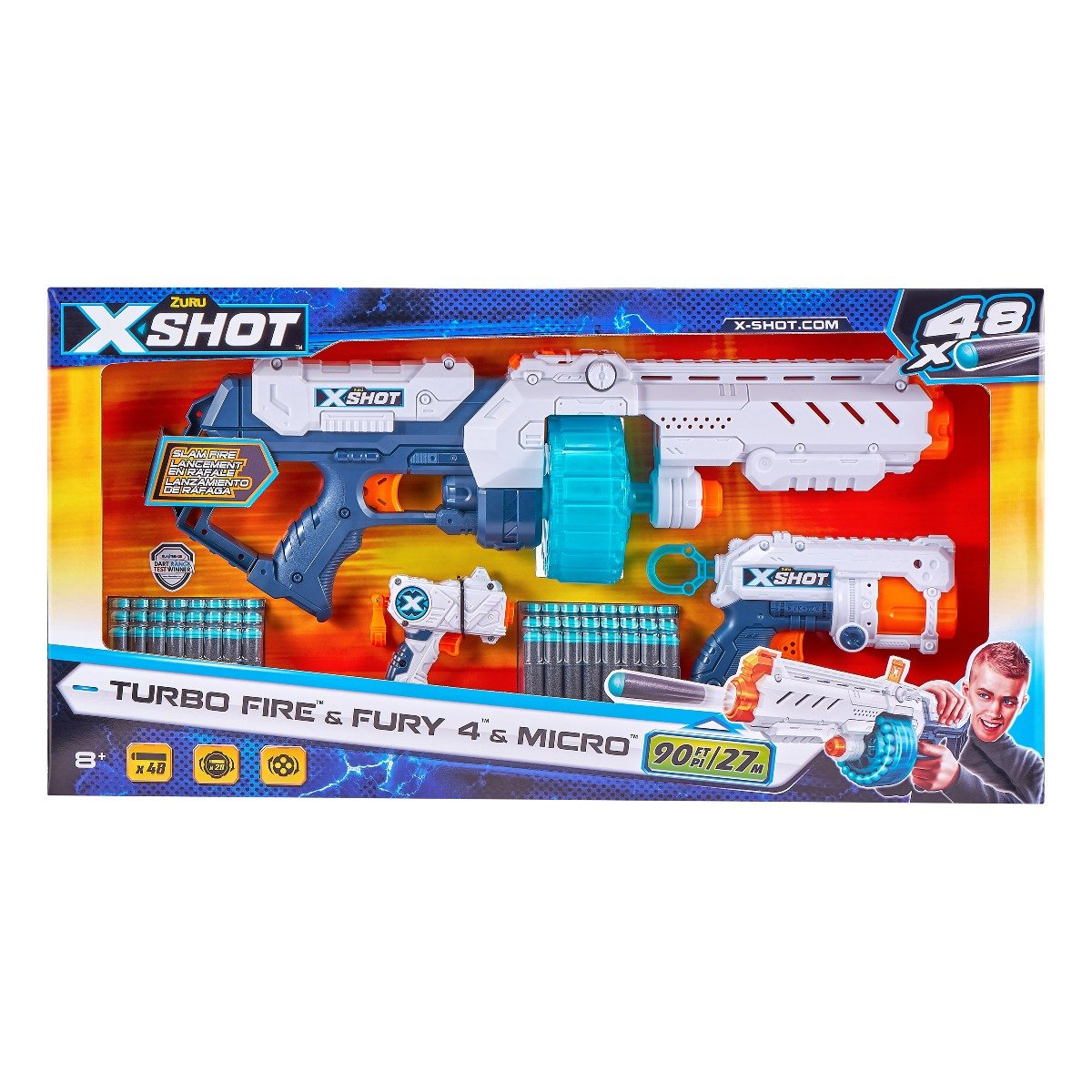 Blaster X-Shot Combo Pack Turbo Fire Fury, 48 proiectile
