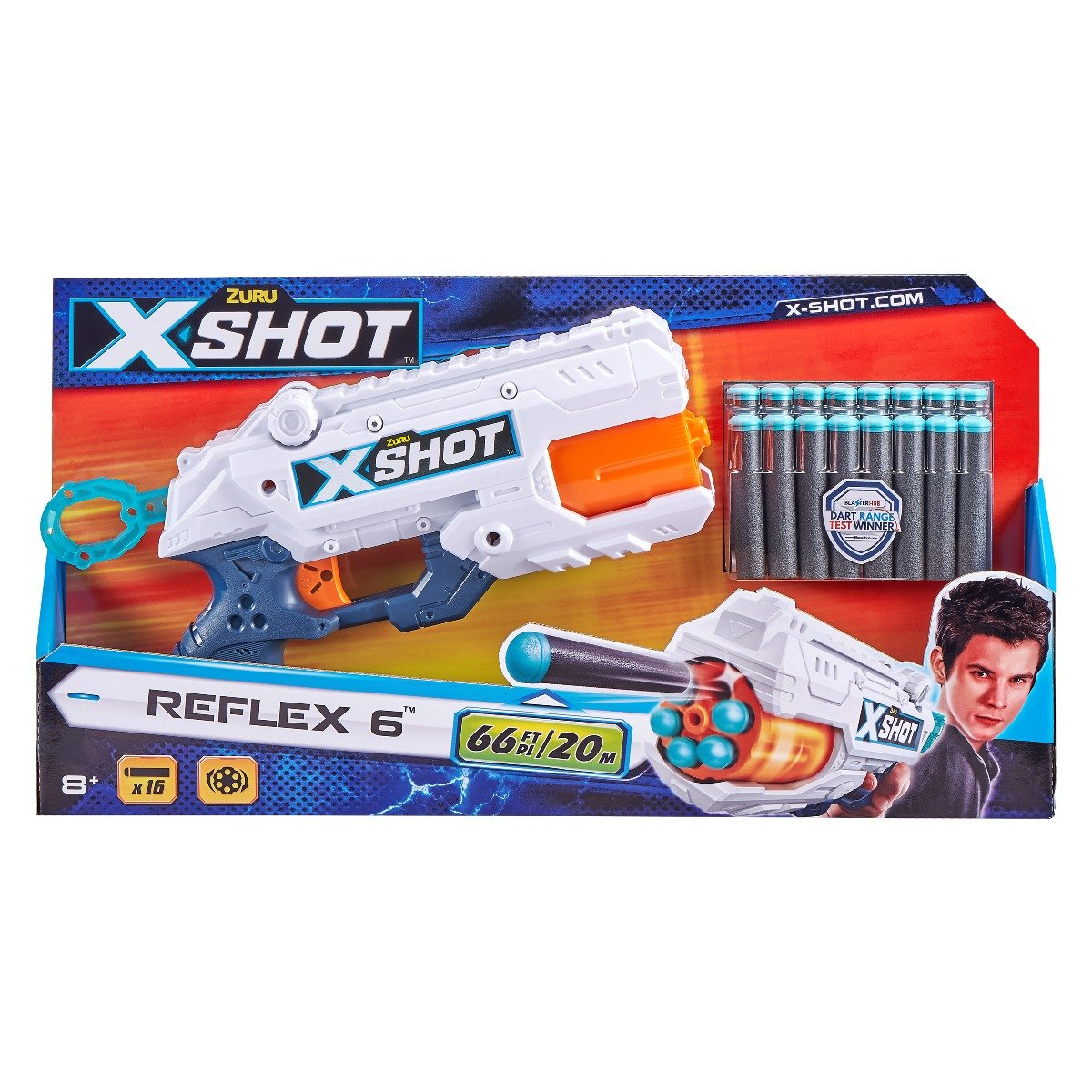Blaster X-Shot Excel Reflex 6, 16 proiectile