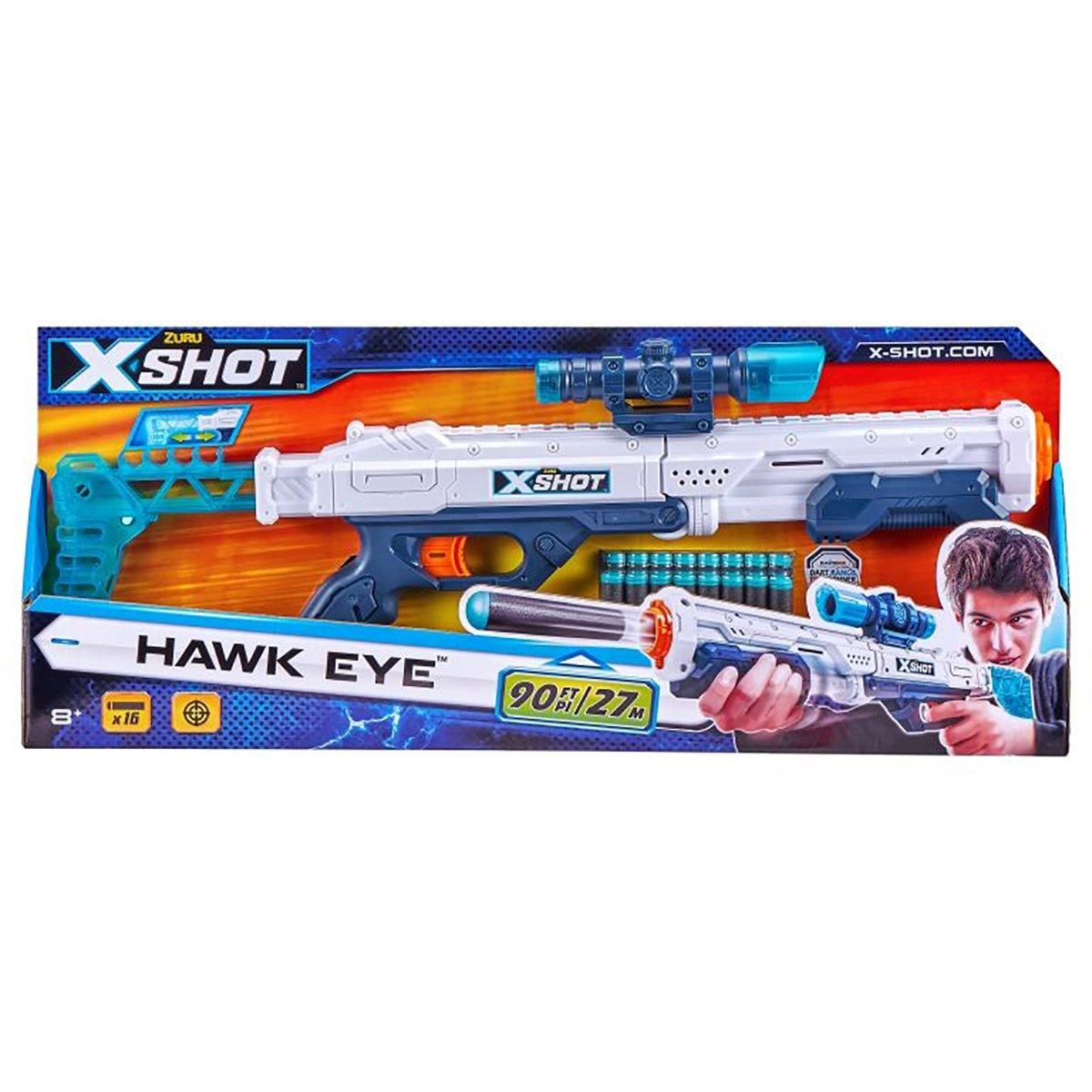 Blaster X-Shot Excel Hawk Eye, 16 proiectile