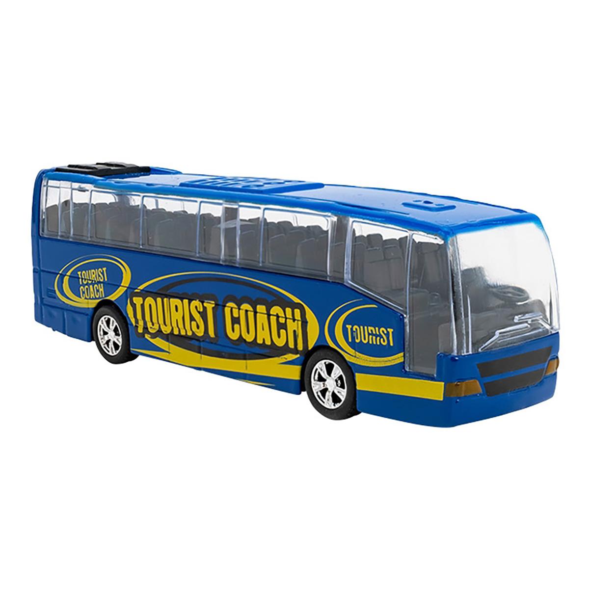Autobuz din metal cu sunete si lumini Globo, Albastru