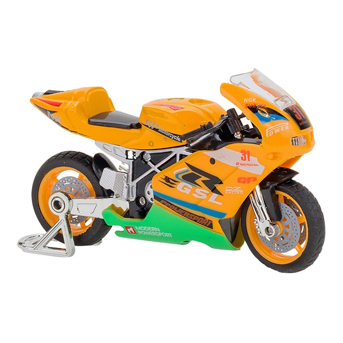 Motocicleta Globo Spidko, 1:18, Portocaliu