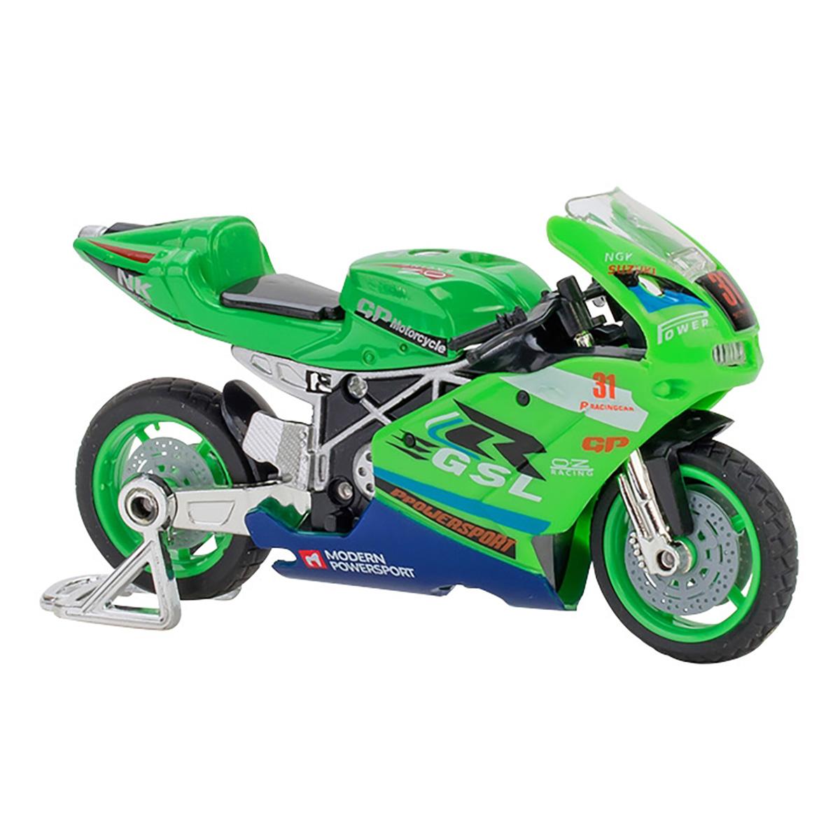 Motocicleta Globo Spidko, 1:18, Verde