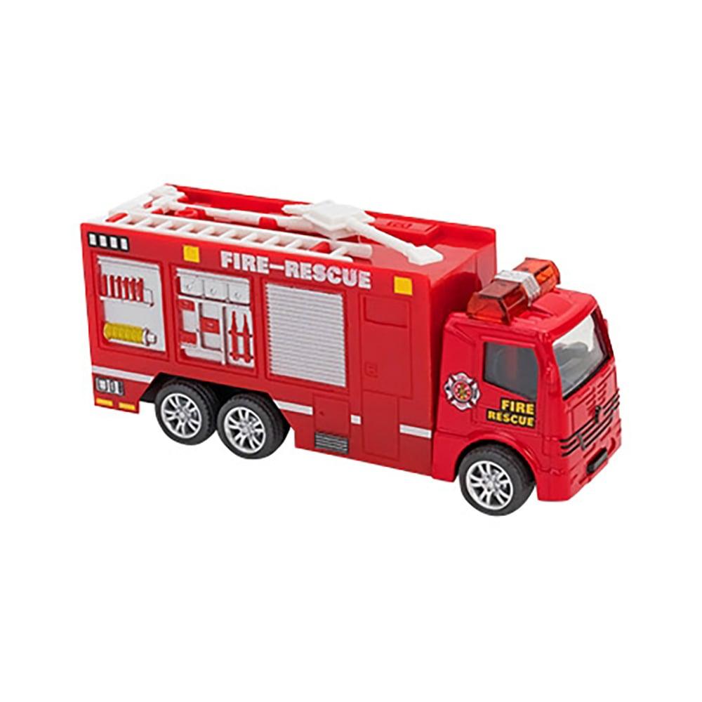 Masina de Pompieri Globo Pull Back Die Cast, 1:55, Rosu