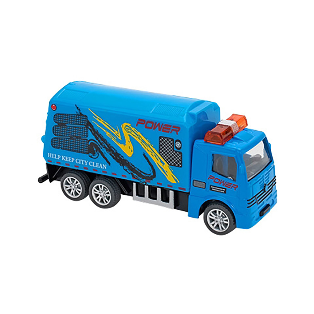 Camion Globo Pull Back Die Cast, 1:55, Albastru