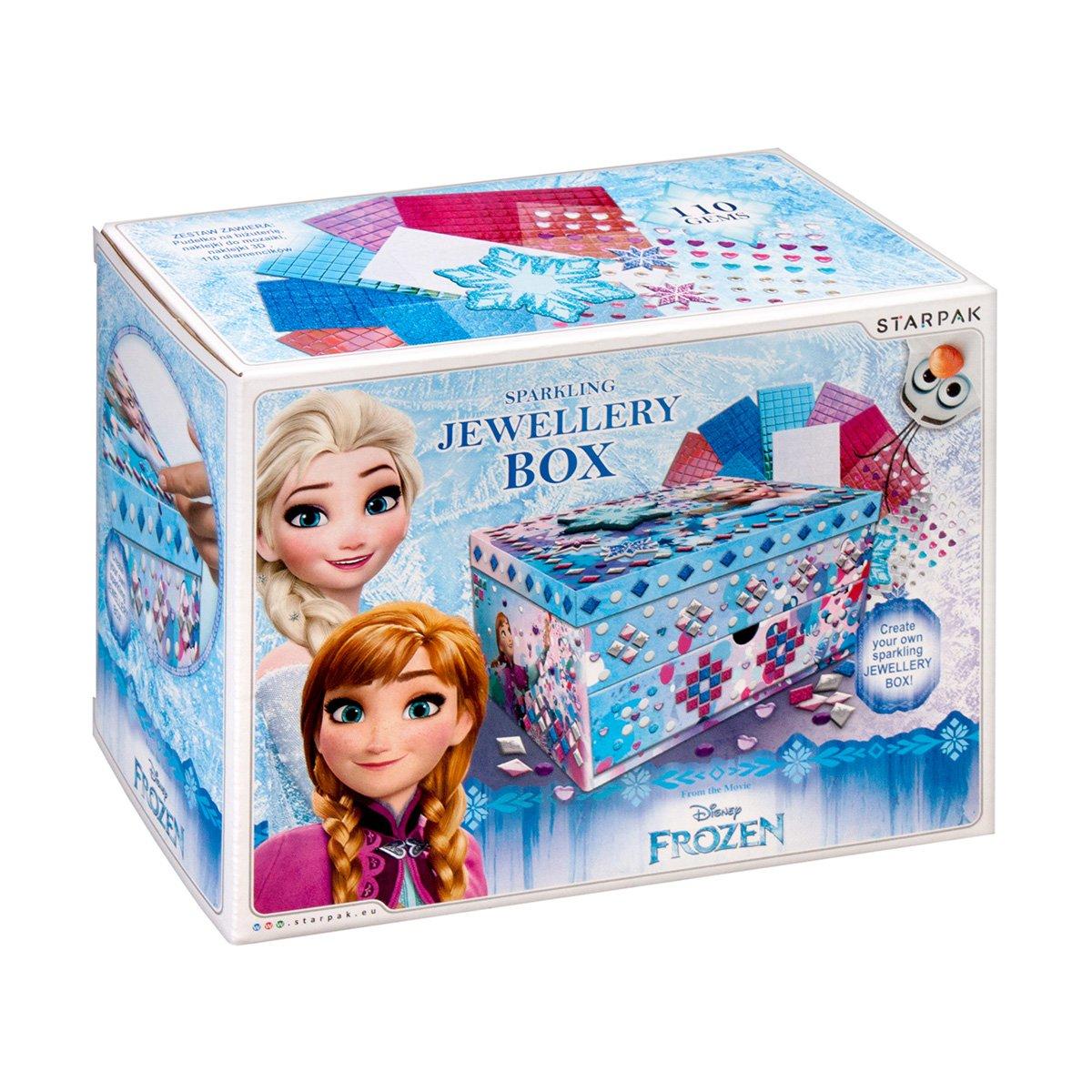 Set creativ Starpak Frozen, Cutie de bijuterii cu paiete