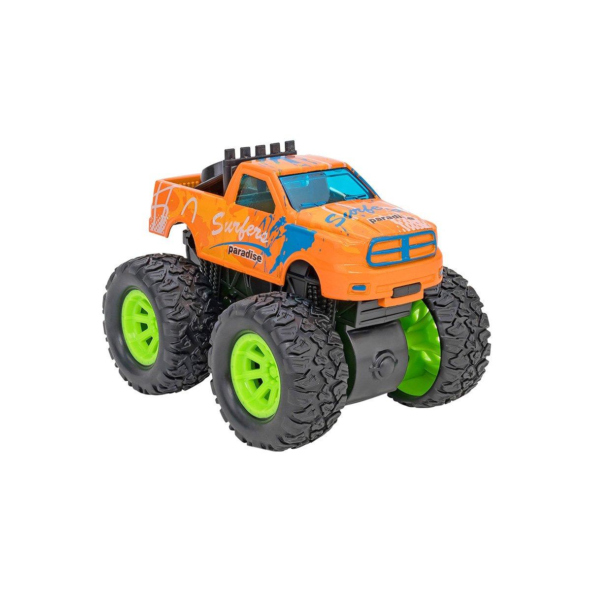 Masinuta Monster Truck Globo Die Cast, Portocaliu
