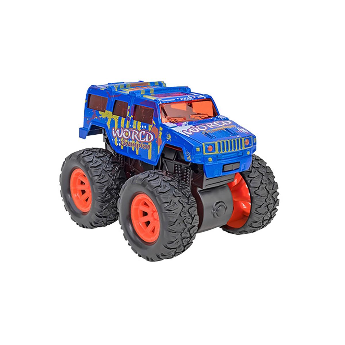 Masinuta Monster Truck Globo Die Cast, Albastru