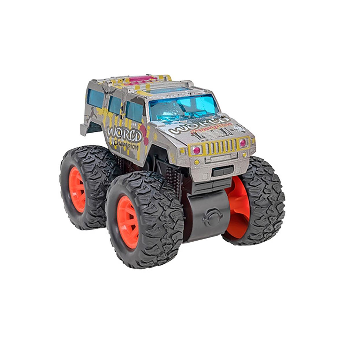 Masinuta Monster Truck Globo Die Cast, Gri