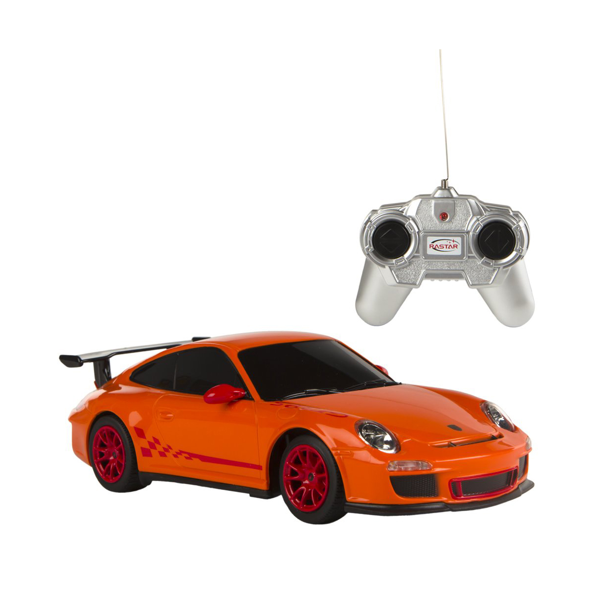 Masina cu telecomanda Rastar Porsche GT3 RS S, 1:24, Portocaliu