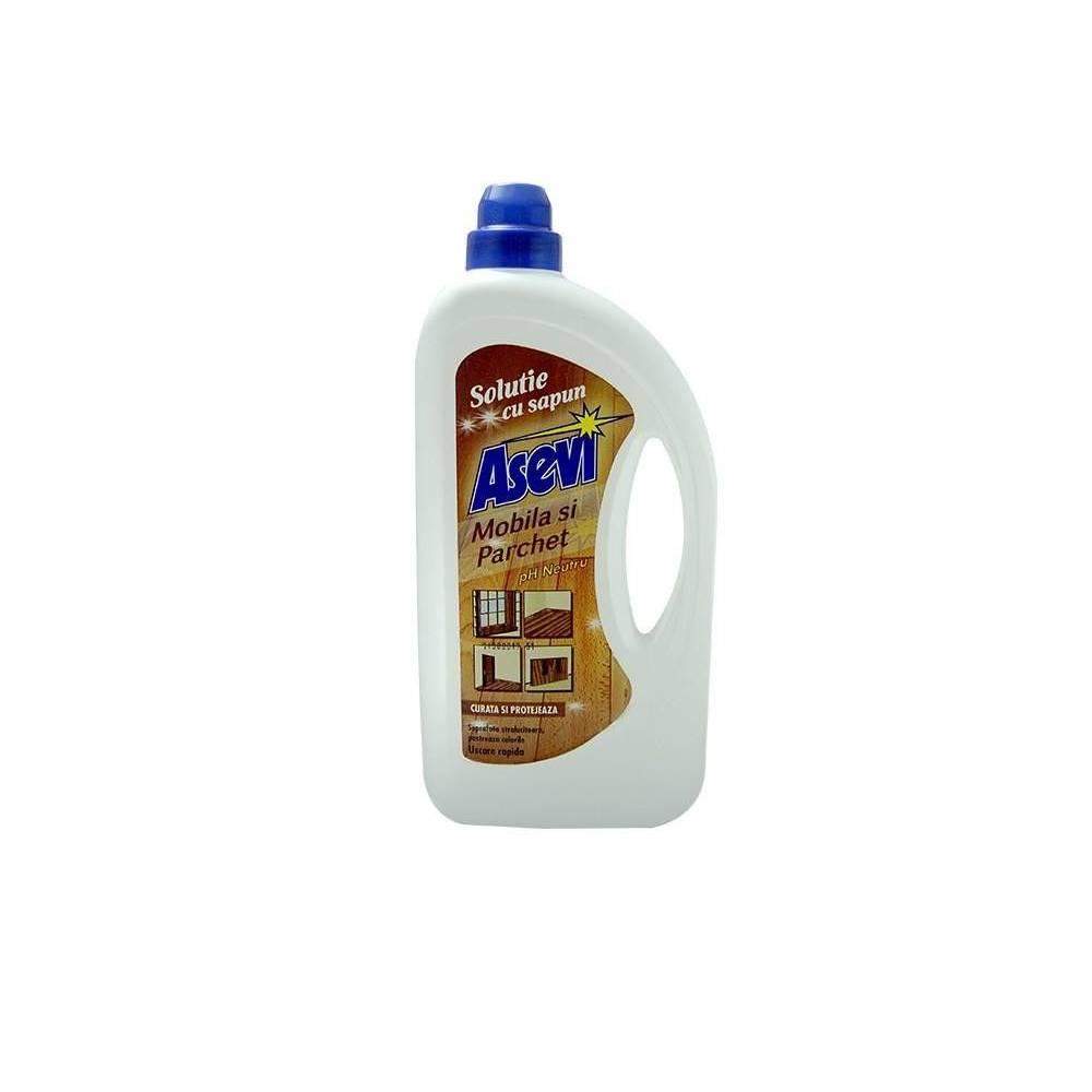 Solutie cu sapun Asevi pentru mobila si parchet, 950 ml imagine 2021