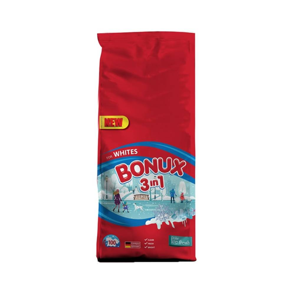 Detergent Bonux 3 in 1 Automat Polar Ice Fresh, 10 Kg imagine 2021
