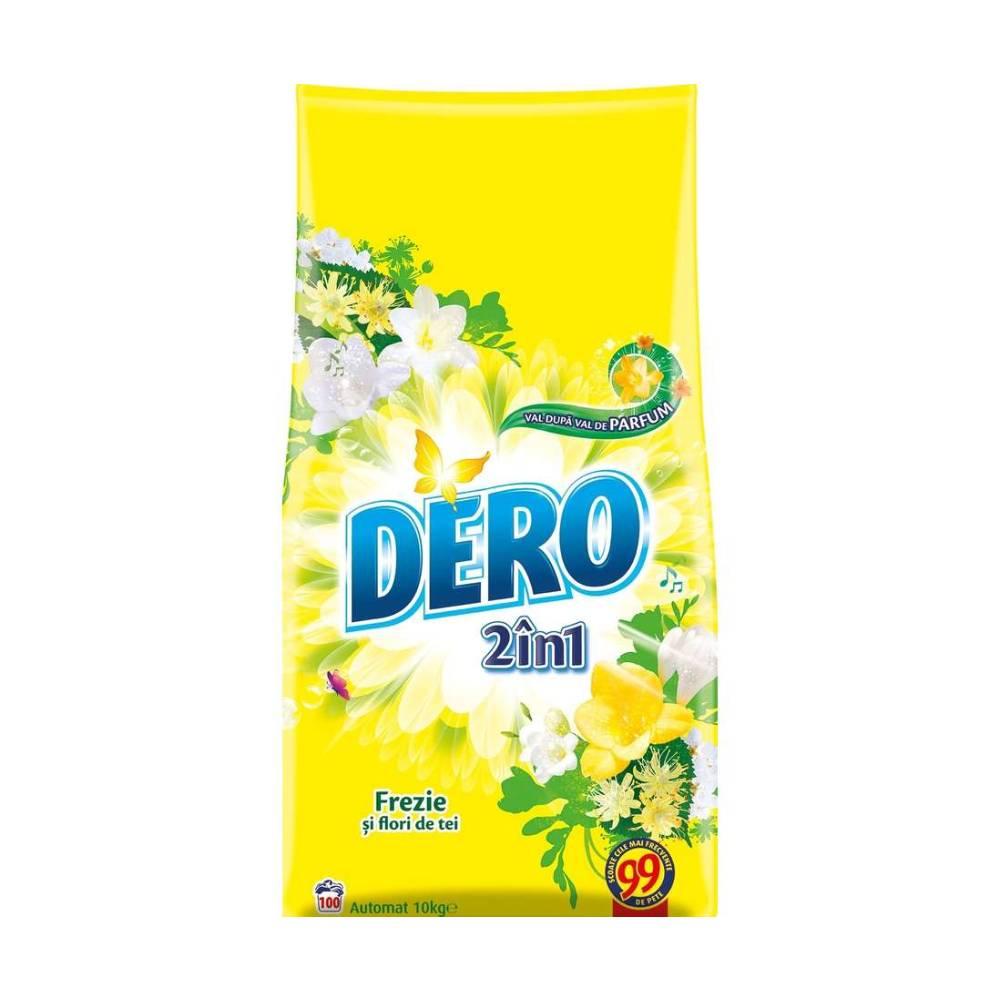 Detergent Dero 2 in 1 Automat Frezie si Flori de tei, 10Kg