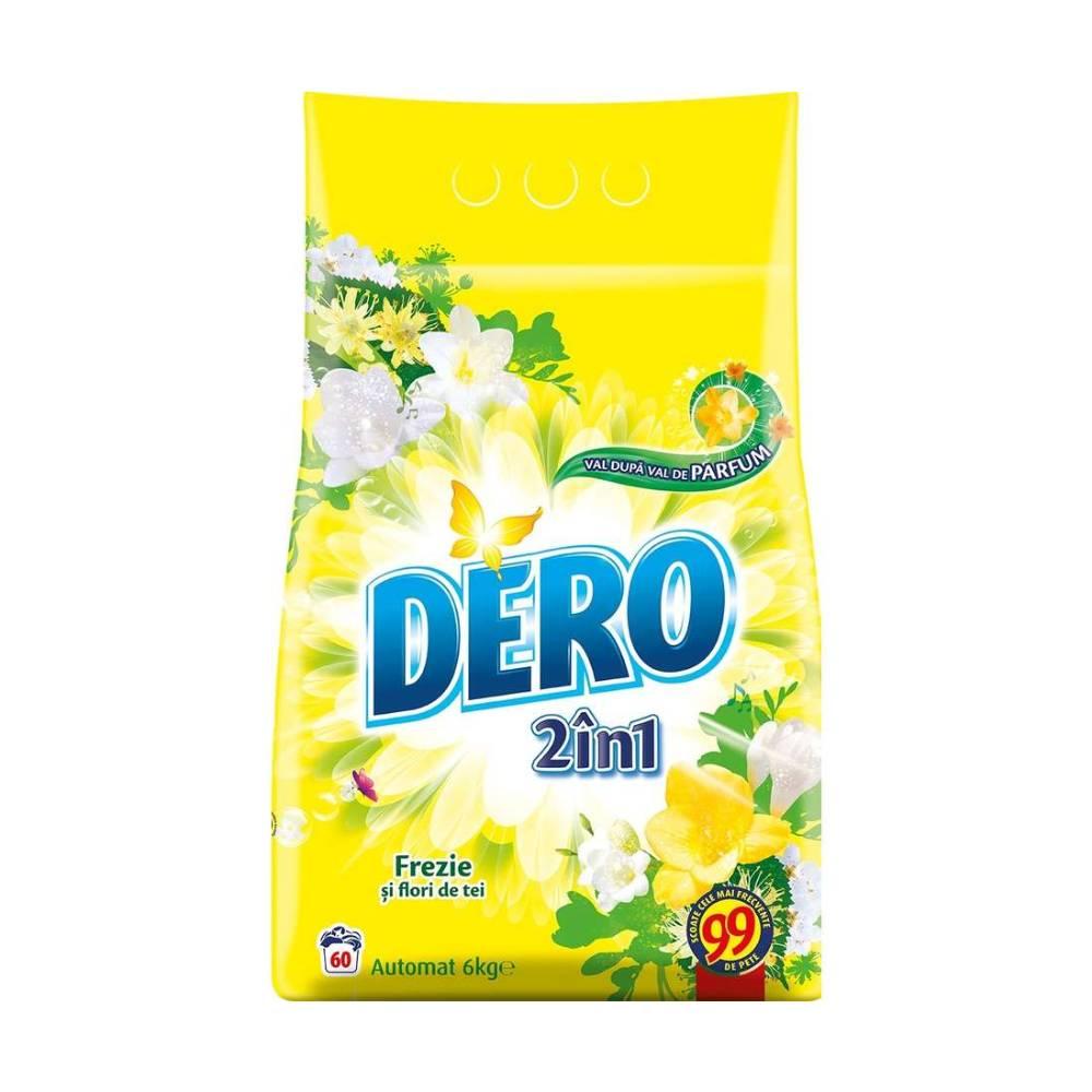 Detergent Dero 2 in 1 Automat Frezie si Flori de tei, 6Kg imagine