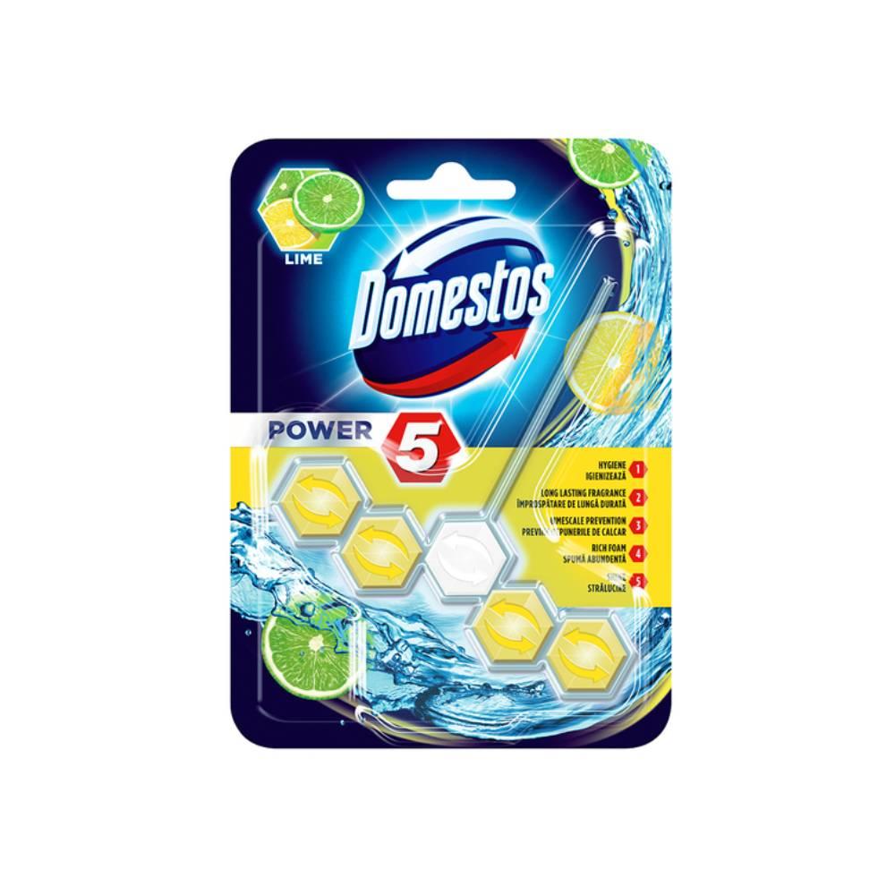 Odorizant toaleta Domestos Power 5 Lime, 55g imagine