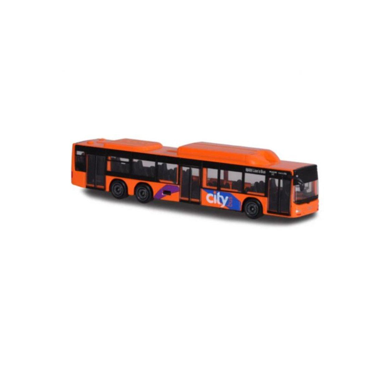 Autobuz de jucarie, Majorette, portocaliu