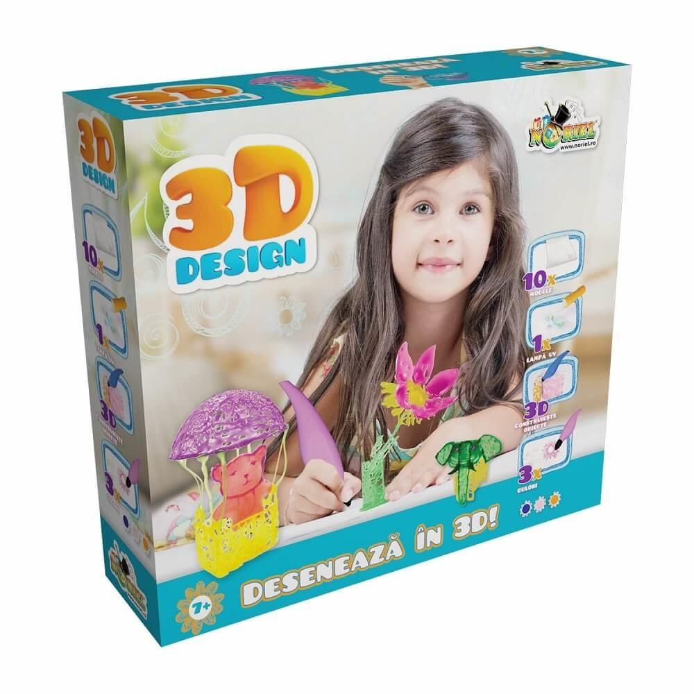 3d design - set 3 creioane 3d