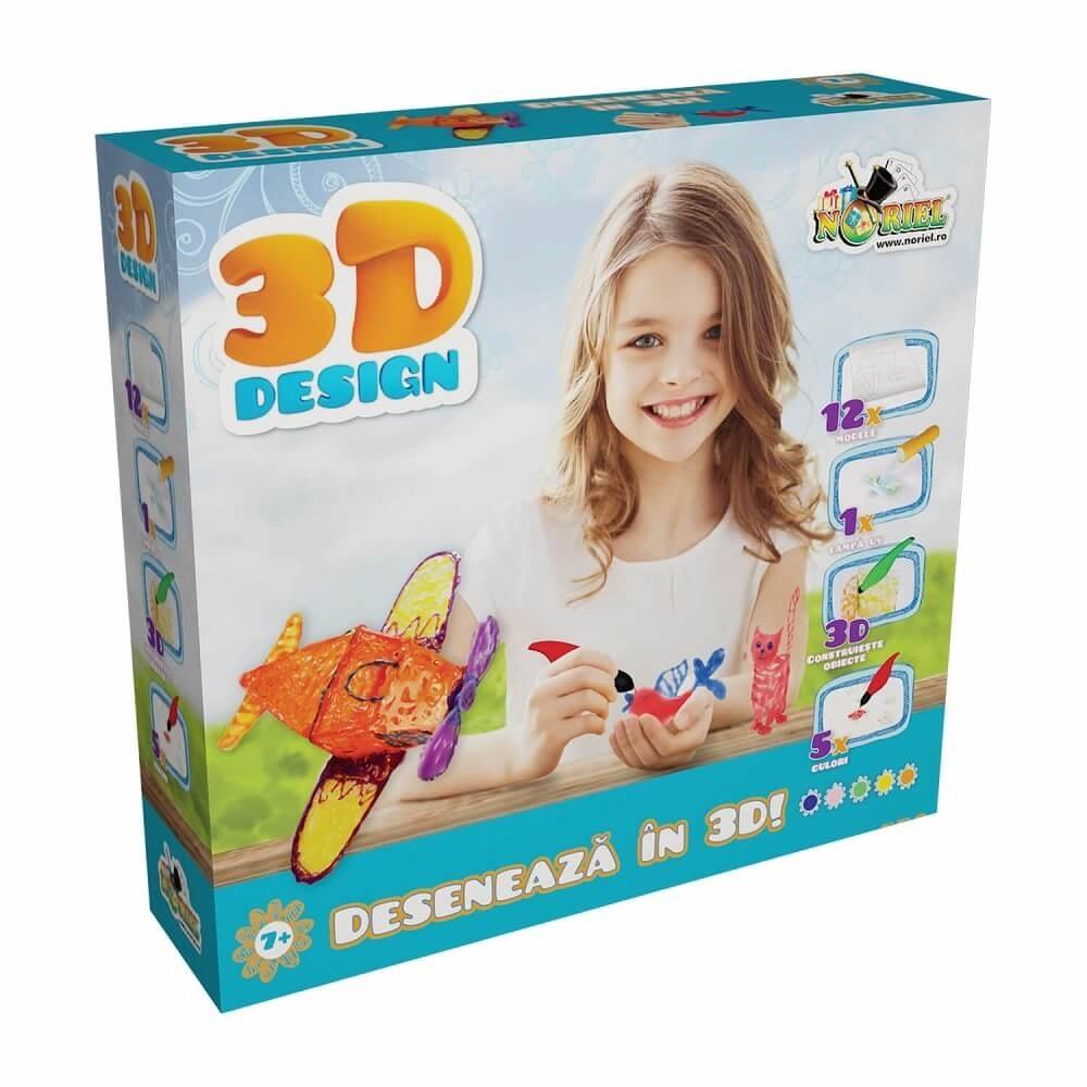 3d design - set 5 creioane 3d