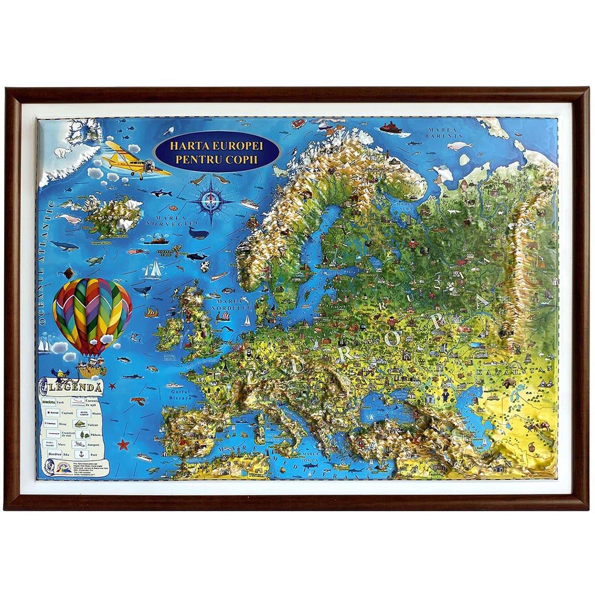 Harta Europei pentru copii Eurodidactica 3D
