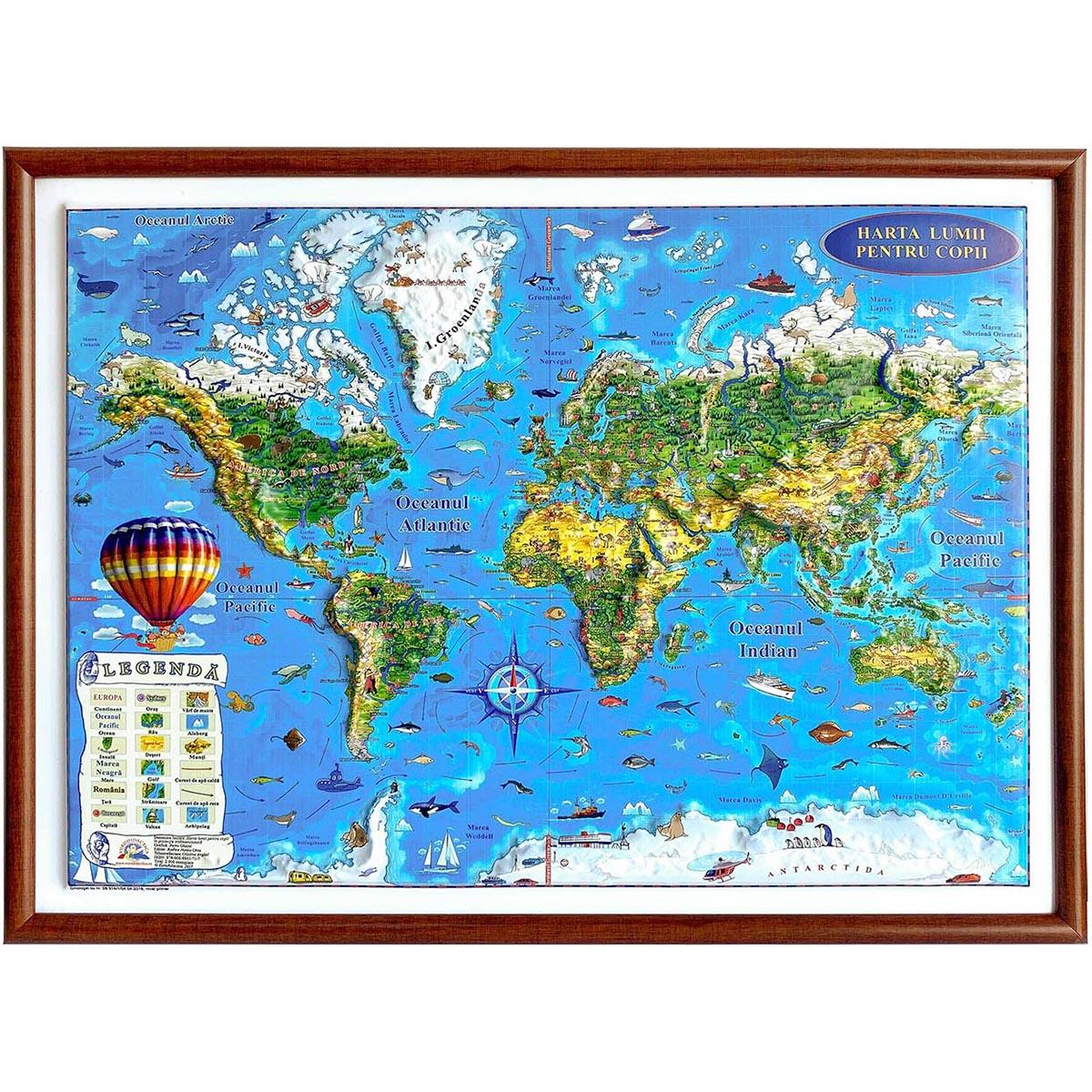 Harta Lumii pentru copii Eurodidactica 3D imagine