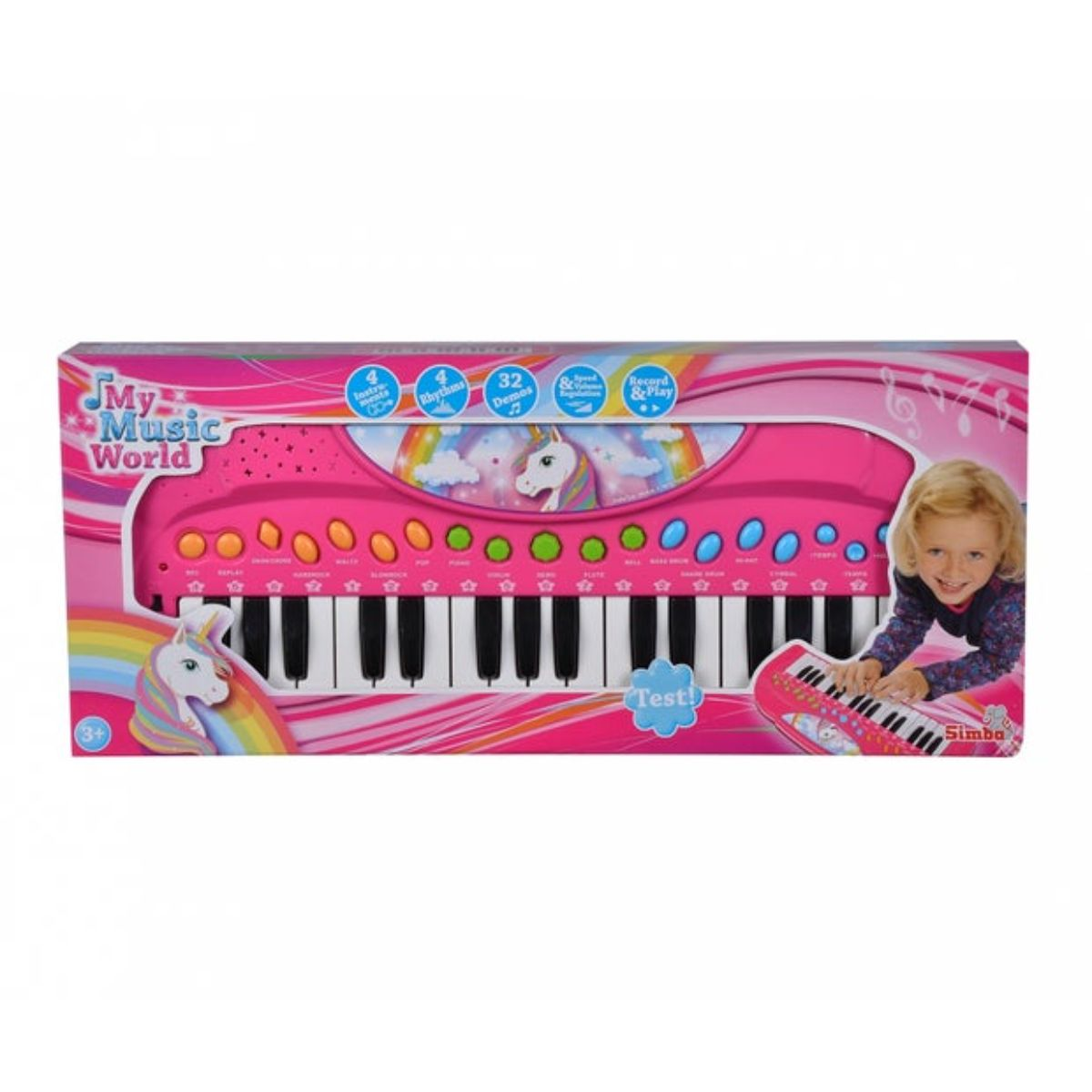 Orga muzicala, My Music World, cu 32 de clape si model cu unicorn