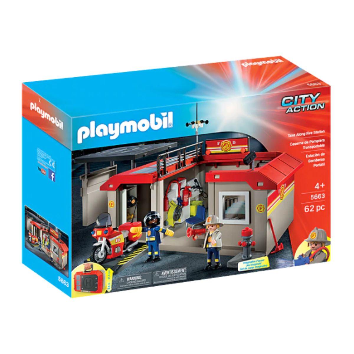Set Playmobil City Life - Statie de pompieri
