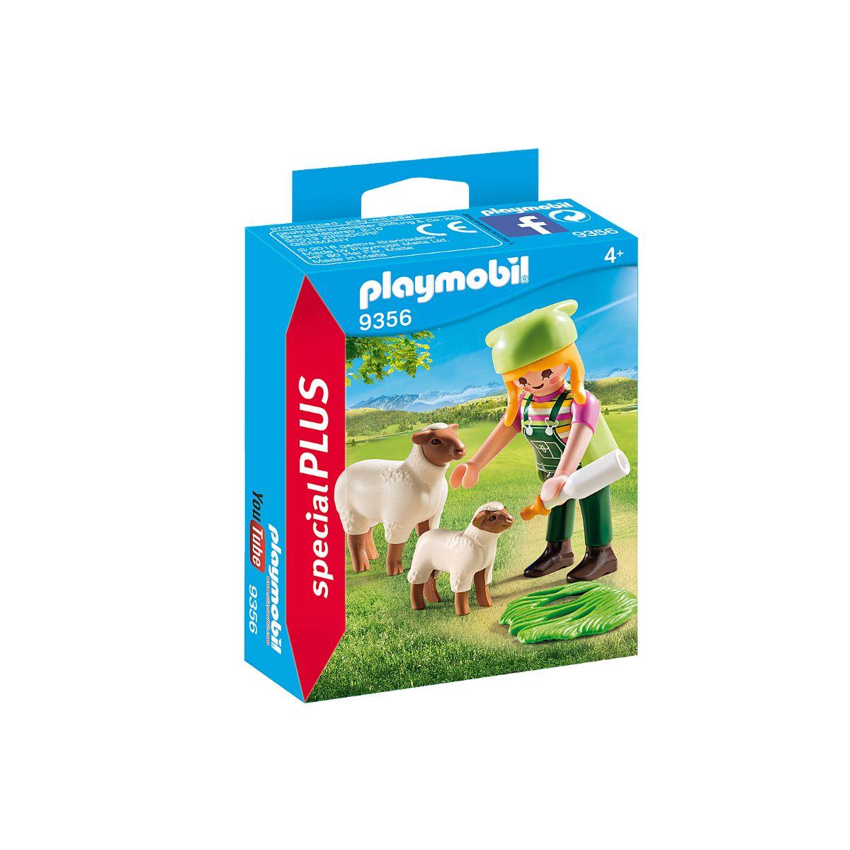 Set Playmobil Figures Special Plus - Figurina fermiera cu oite