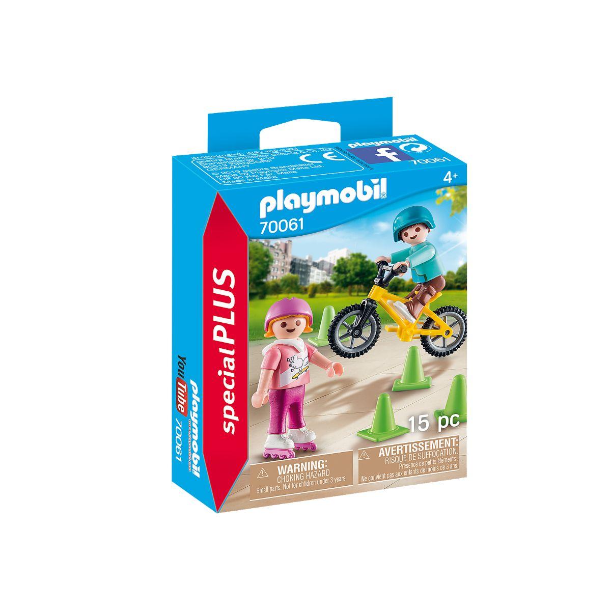 Set Playmobil Figures Special Plus - Figurina copii cu role si bicicleta