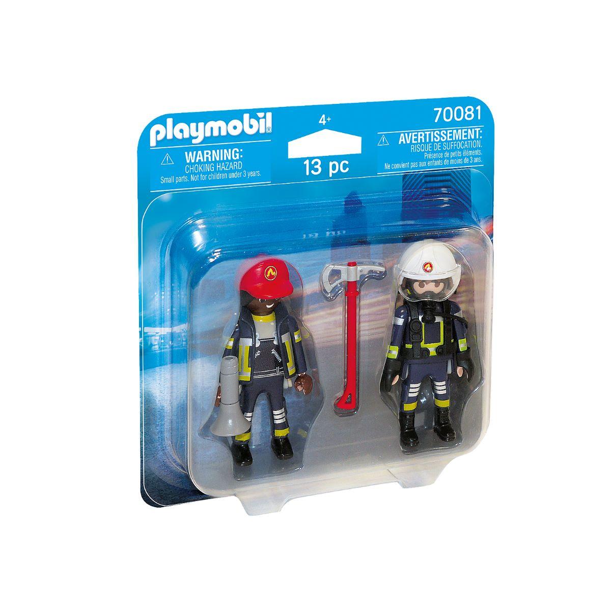 Set 2 figurine pompieri, Playmobil City Action - Fire department