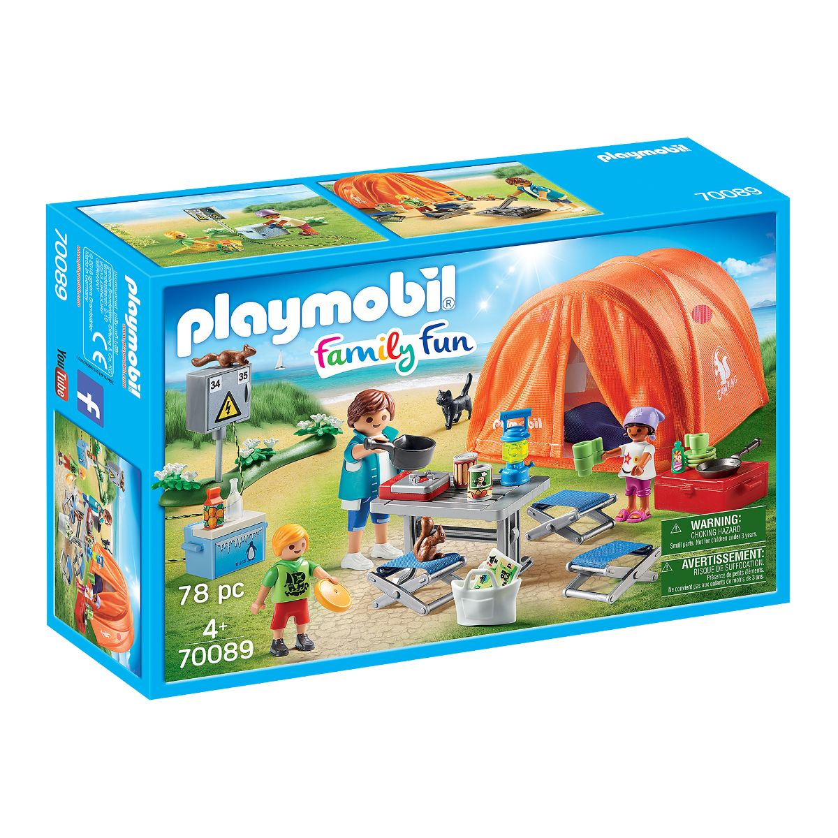 Set Playmobil Family Fun Camping - Cort camping