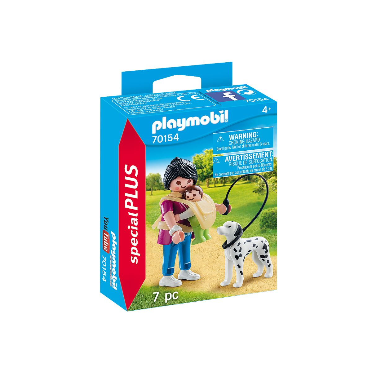 Figurina Playmobil - Mama cu bebelus si caine