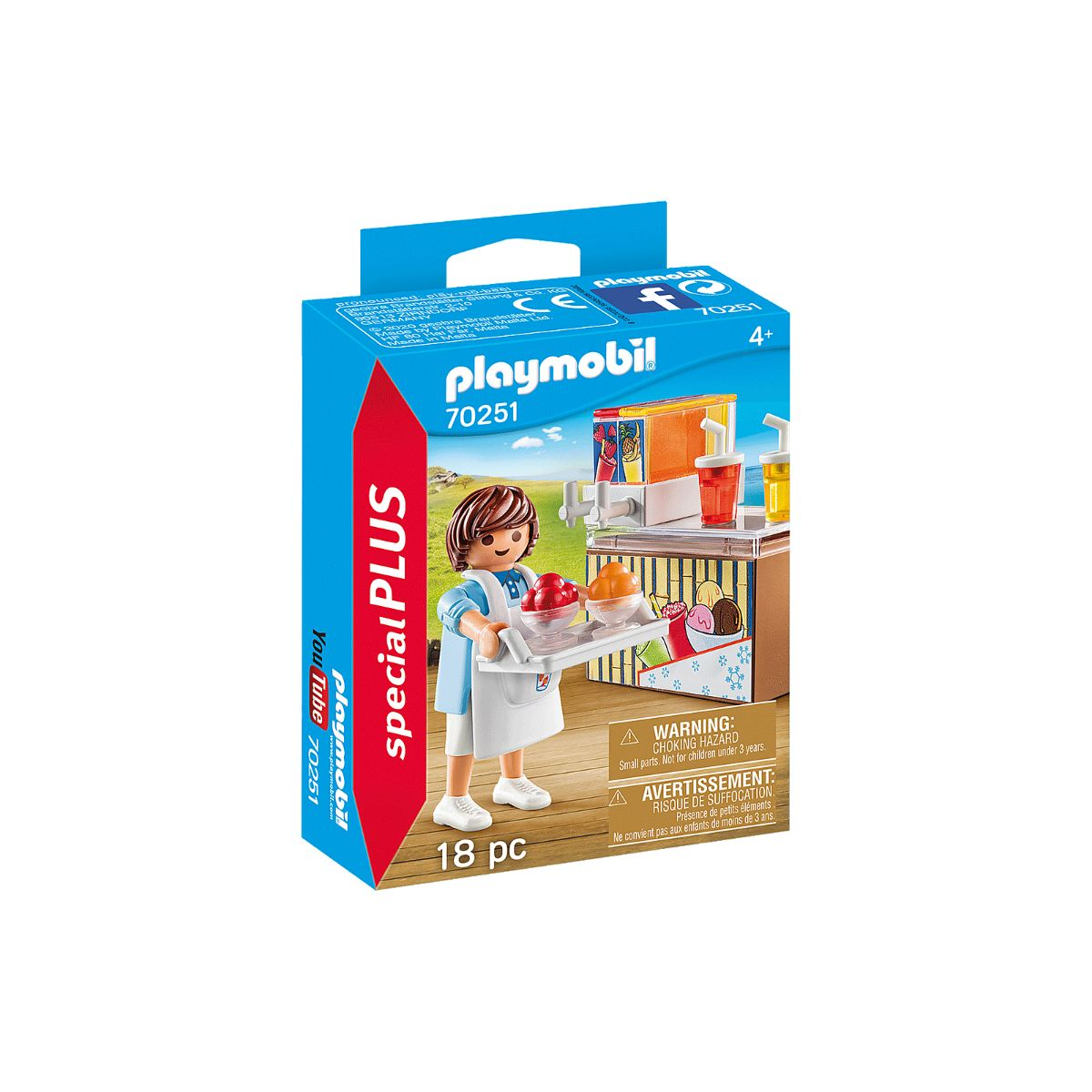 Set Playmobil - Vanzator de inghetata