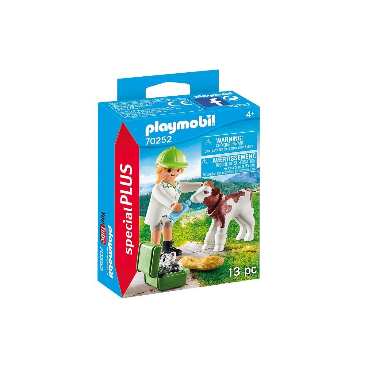 Set Playmobil Figures Special Plus - Veterinar cu vitel